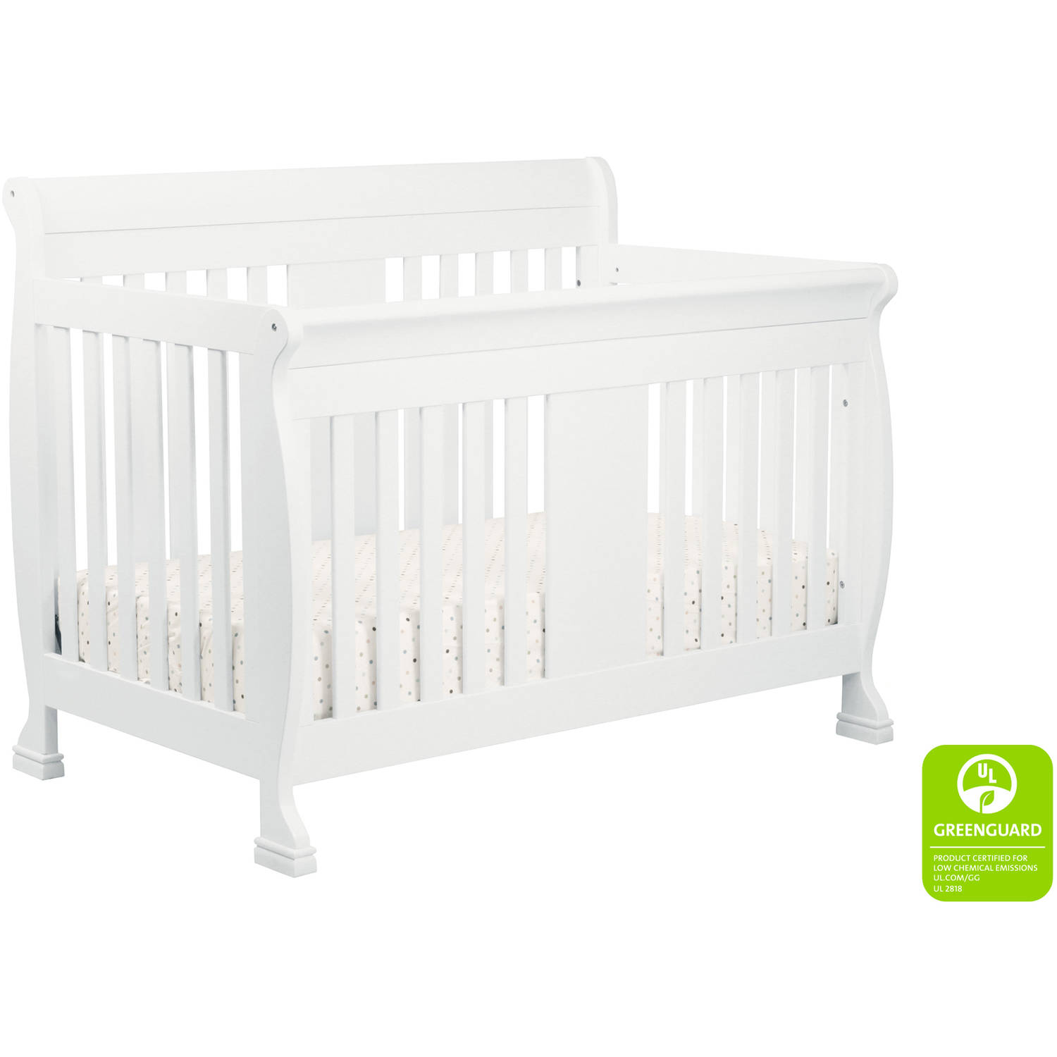 DaVinci Porter 4-in-1 Convertible Crib with Toddler Bed Conversion Kit White