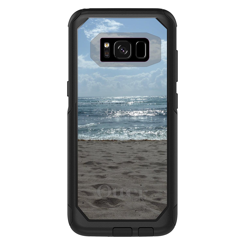 "DistinctInk™ Custom Black OtterBox Commuter Series Case for Samsung Galaxy S8 (5.8"" Screen) - Ocean Horizon Akumal Mexico"