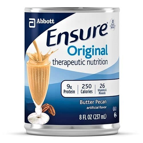 Ensure Original Therapeutic Nutrition Shake, Butter Pecan, 8 oz Cans - Case of 24
