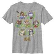 Nintendo Boys' Animal Crossing New Leaf Towns People T-Shirt