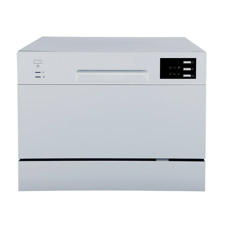 Sunpentown Energy Star Countertop Dishwasher with Delay Start & LED Display; Silver