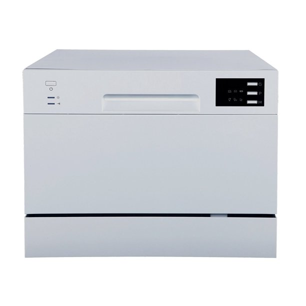 Sunpentown Delay Start & LED Display Countertop Dishwasher, 2220 Series, Silver
