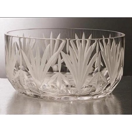 GAC Mouth Blown Large Glass Crystal Serving Bowl Perfect Fruit Bowl Round Salad Bowl for $<!---->