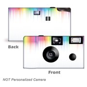5 Pack Electronic Rainbow Disposable Cameras. Free shipping.  Birthday Cameras, Wedding Cameras, Event Cameras, from CustomCameraCollection WM-50411-C