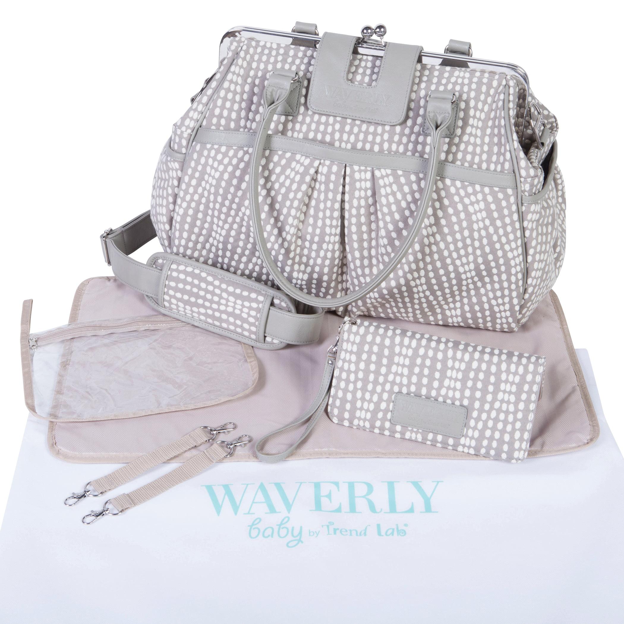 Waverly Strands Sterling Framed Diaper Bag by Waverly