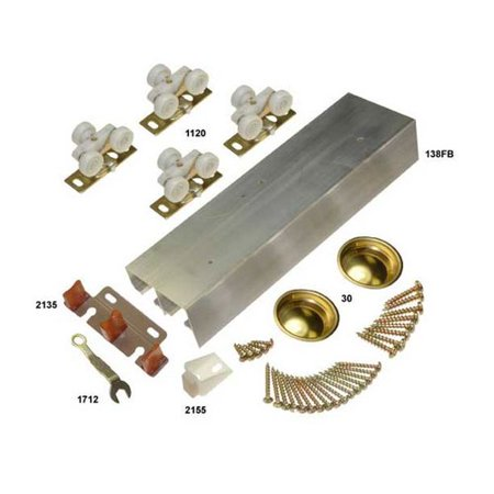 Bypass Track - Johnson Hardware 138F Series Bypass Track and Hardware Set for 2 Doors 60