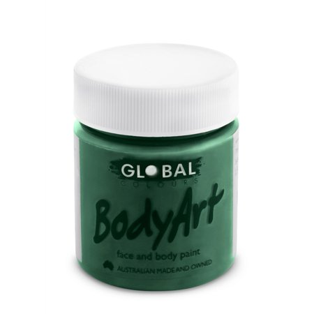 Global Body Art Face Paint - Liquid Green Deep (45 ml/1.5 oz)](Green Bodypaint)