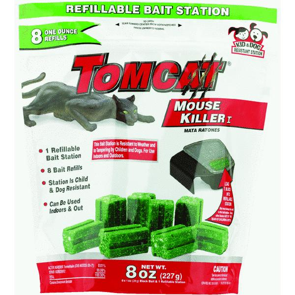 Tomcat Mouse Killer I Refillable Mouse Bait Station