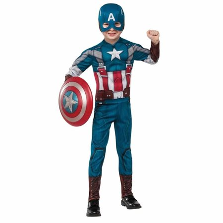 Child retro captain america costume by rubies 885079 S (4-6) (Kids Captain America)