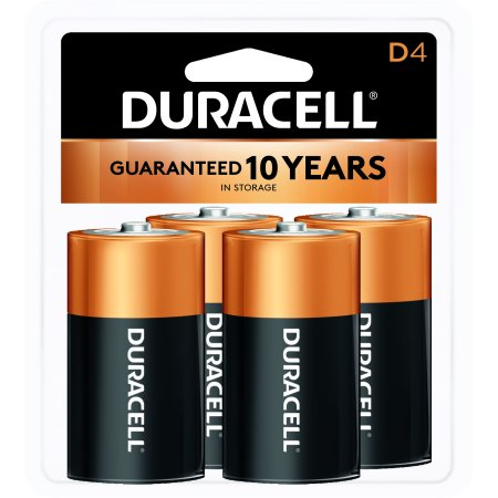 duracell 1 5v coppertop alkaline d batteries 4 pack. Black Bedroom Furniture Sets. Home Design Ideas