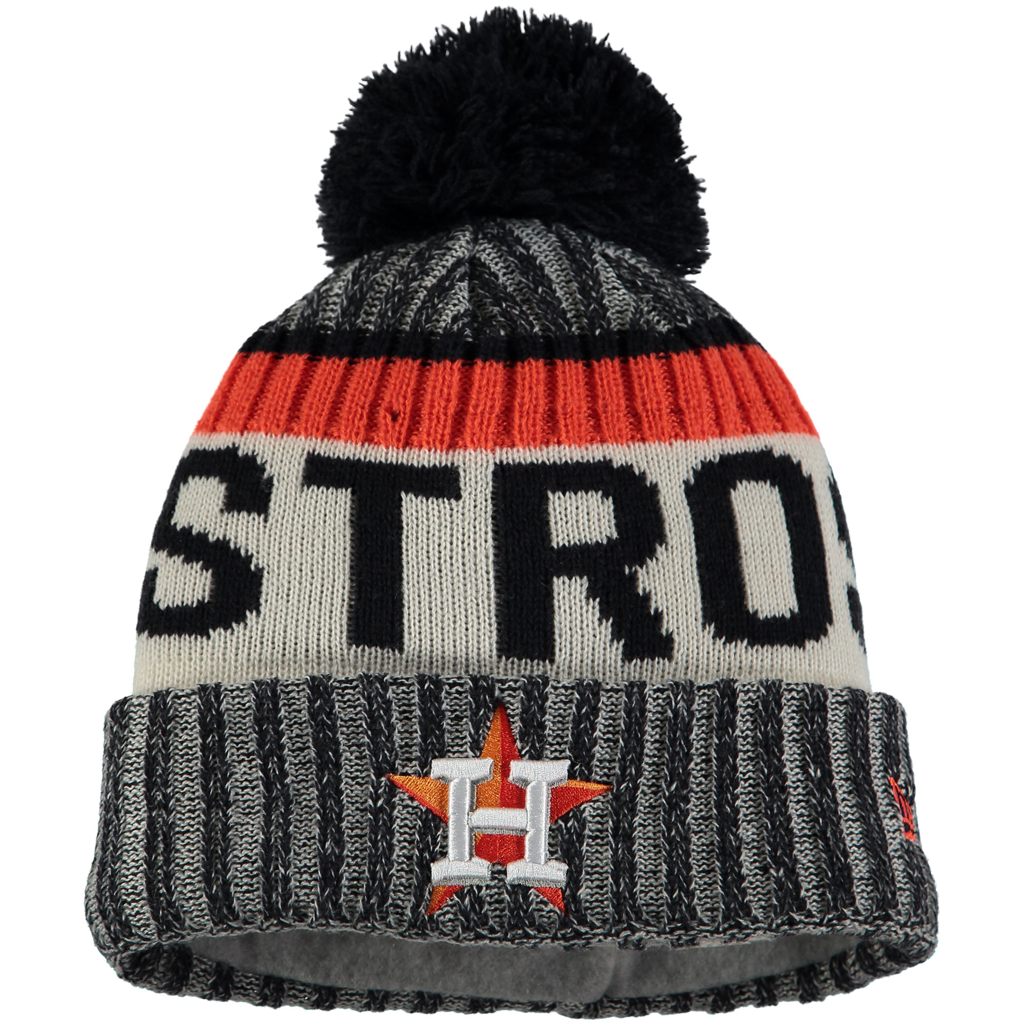 cheap for discount 49741 b2582 ... official houston astros new era youth sport cuffed knit hat with pom  navy osfa a5cc4 5ddc0