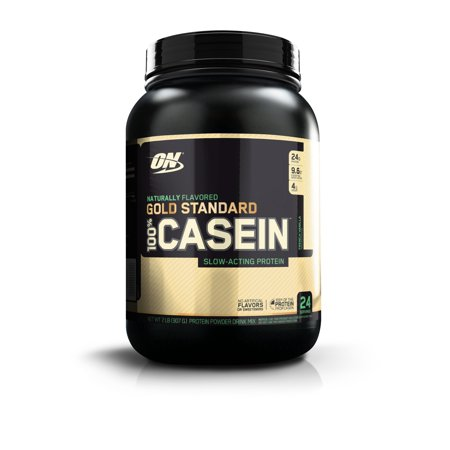 Optimum Nutrition 100% Natural Casein GS, Vanilla, 2 lb