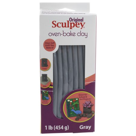 Sculpey Oven-Bake 1 Lb. Gray Clay
