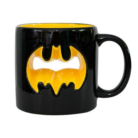 Batman Black Cutout Logo Coffee Mug](Batman Mug)