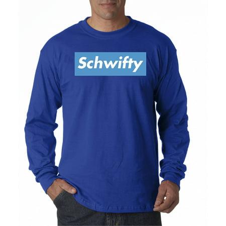 70e242d0b7be New Way - New Way 858 - Unisex Long-Sleeve T-Shirt Schwifty Supreme Rick  Morty Parody Logo XL Royal Blue - Walmart.com