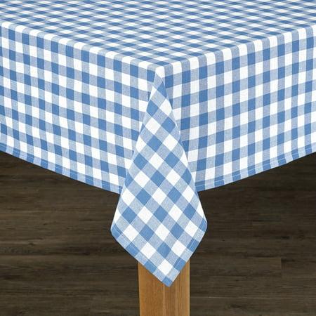 Conventry Navy Buffalo Check 100% Cotton Tablecloth 52