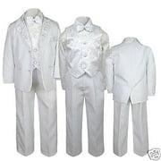 Altotux Boys Baptism Communion Wedding Formal White Suit  S M L XL 2T 3T 4T 5 6 7-20