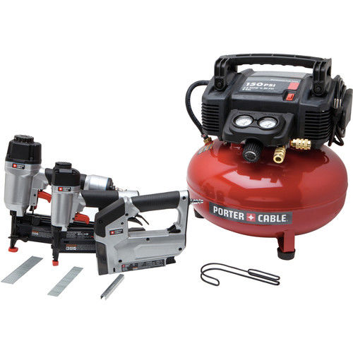 Factory-Reconditioned Porter-Cable PCFP12234R 3-Piece Finish Nailer & Brad Nailer Combo Kit (Refurbished) by