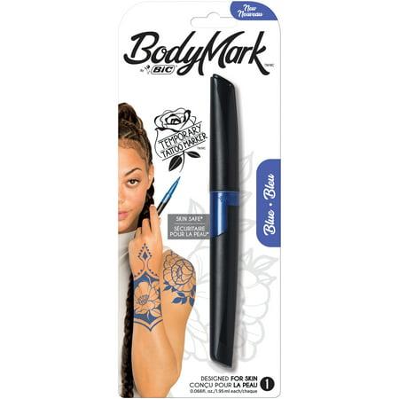 BIC BodyMark Temporary Tattoo Marker, Blue, 1-Count](Blue Tattoos)