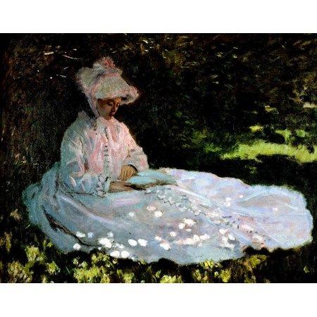 Claude Monet A Woman Reading Laminated Poster Print 24 x (Woman Reading Monet)