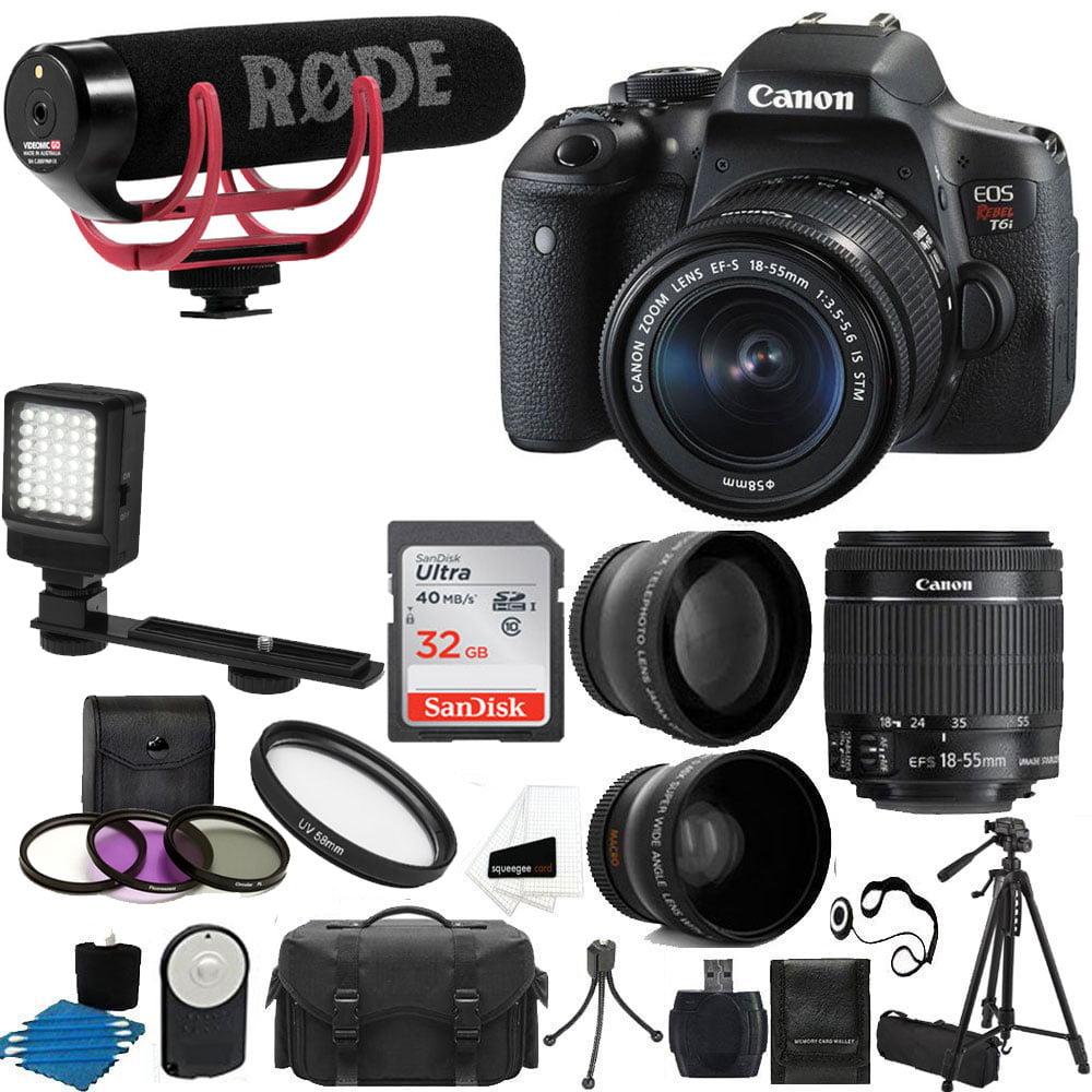 Canon EOS Rebel T6i DSLR CMOS Digital SLR Camera with EF-S 18