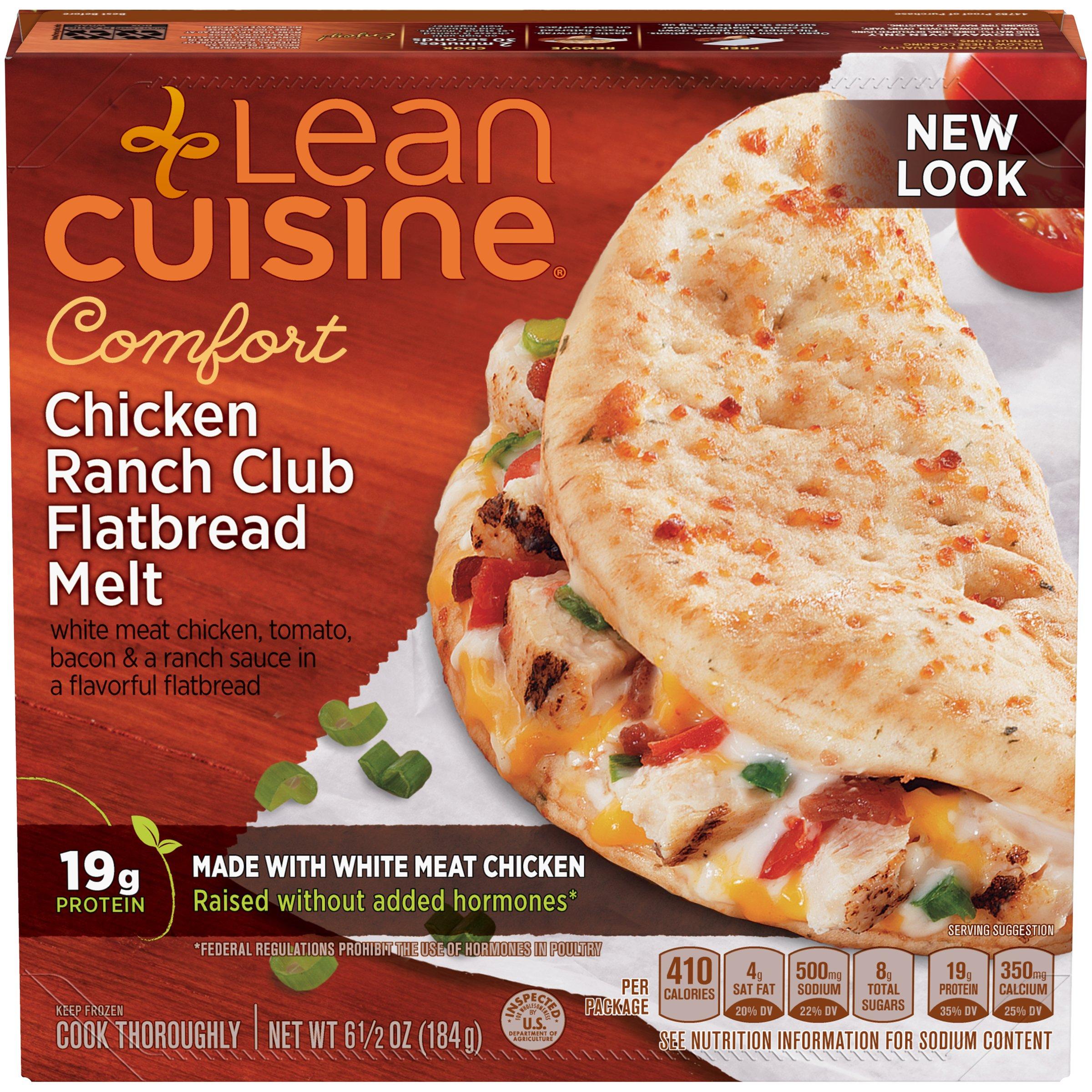 LEAN CUISINE COMFORT Chicken Ranch Club Flatbread Melt 6.5 oz. Box
