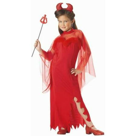 Devil Costume Child (Child's Sheer Devil Girl Costume~Child's Sheer Devil Girl)