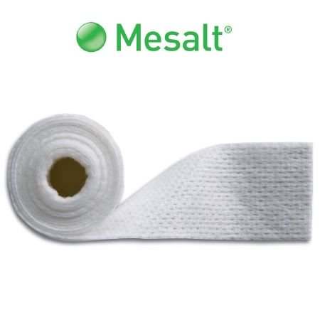 Mesalt Impregnated Dressing  4 X 4 Inch / 2 X 2 Inch Folded, Viscose / Polyester, Sodium Chloride, Sterile, Box of 30