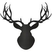 Metal Art Studio Wildlife Midnight Buck | Large Pure Deer by Adam Schwoeppe Graphic Art Plaque