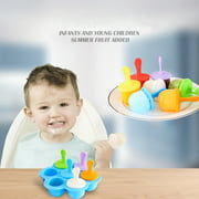 Silicone Mini Ice Pops Mold Ice Cream Ball Lolly Maker Popsicle Molds Baby DIY Food supplement tool