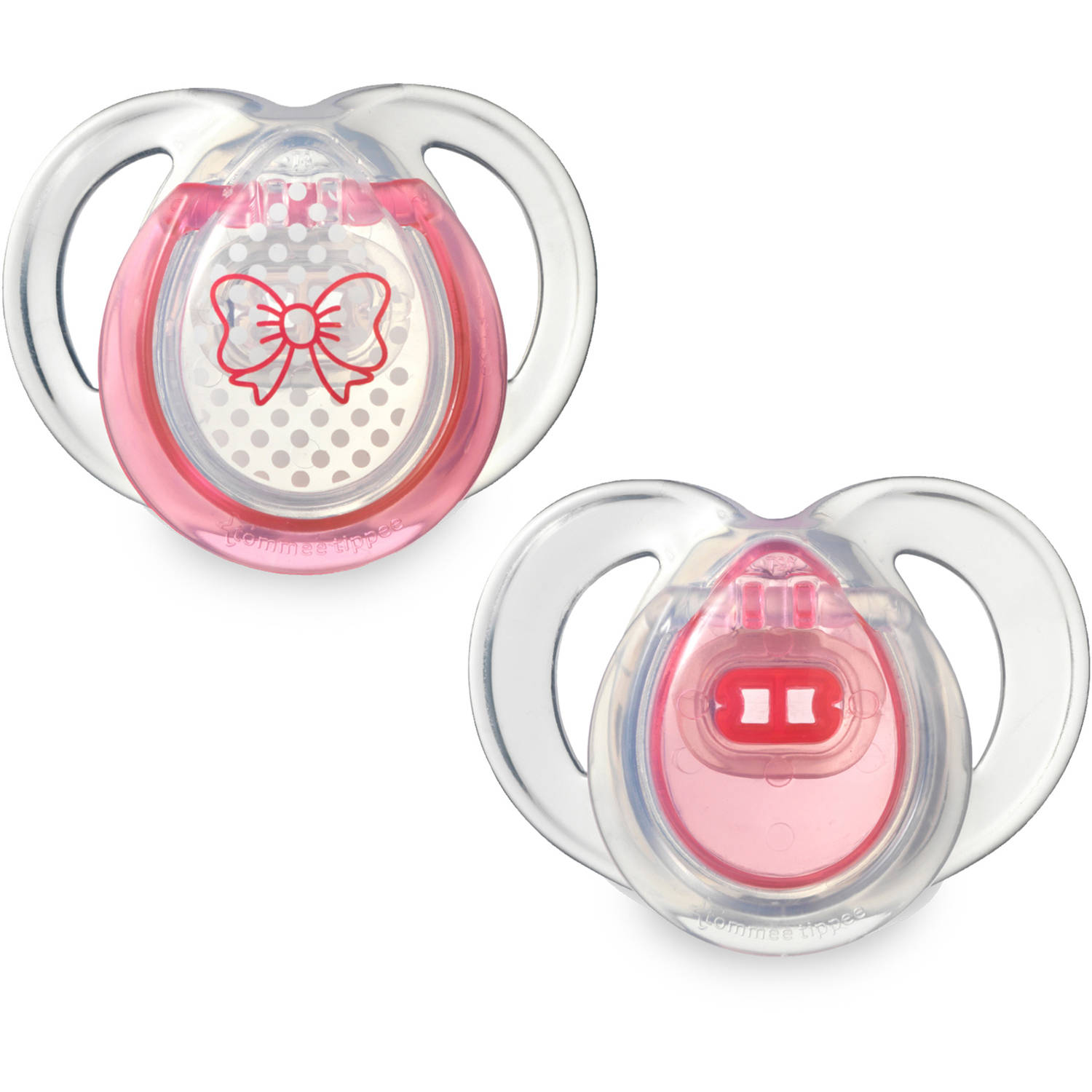 Tommee Tippee Closer to Nature 0-6 Month Everyday Pacifiers, 2pk, Girl