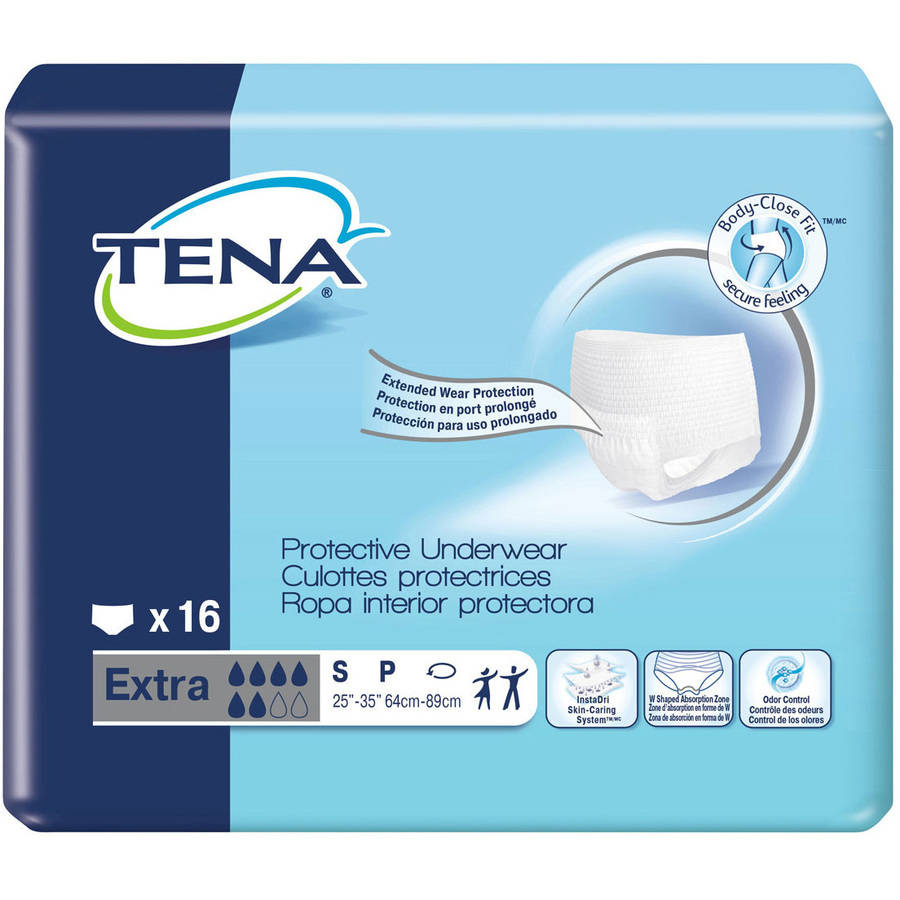 TENA for Women Extra Absorbency Protective Incontinence Underwear, Small, 16 count