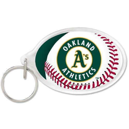 Oakland Athletics WinCraft Premium Acrylic Keychain - No Size