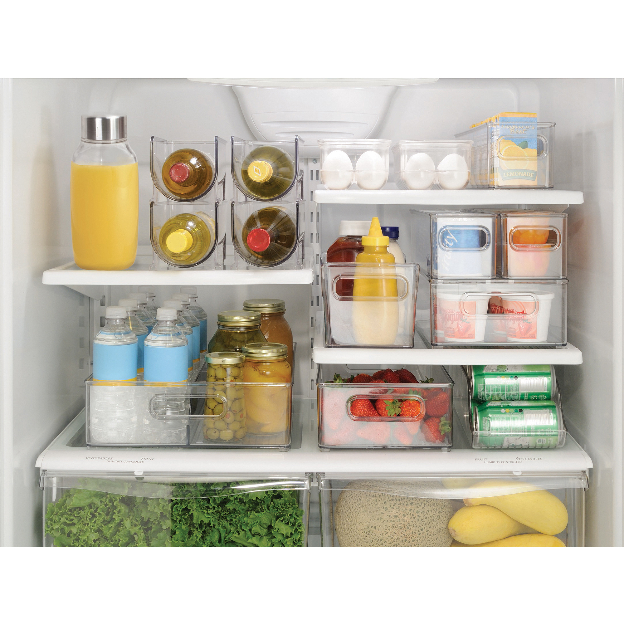 InterDesign Refrigerator Storage Organizer for Kitchen Covered Egg