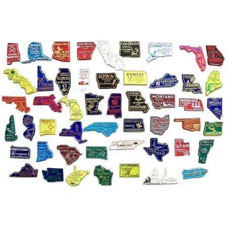 All 50 State Souvenir Magnets Plus Washington DC and Puerto Rico (Puerto Rico Souvenirs)