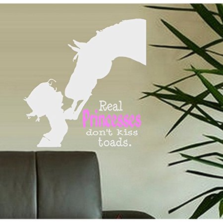 Decal ~ Real PRINCESSES don't kiss Toads ~ Wall or Window Decal (20