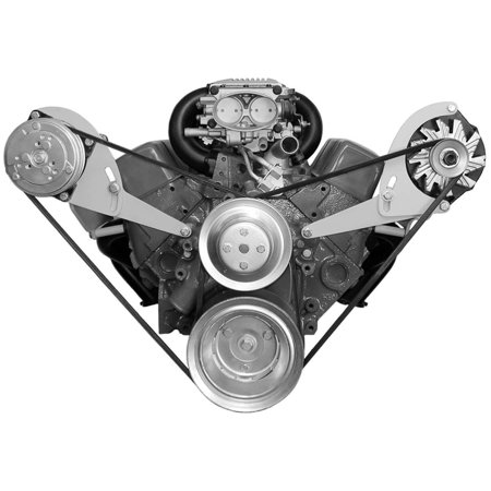 ALAN GROVE Components SBC Head Mount Low Profile Alternator Bracket Kit P/N