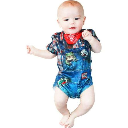 Hillbilly Farmer Romper Infant Costume - Top Baby Boy Halloween Costumes