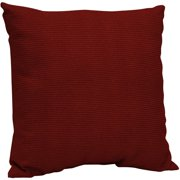 """Arden Outdoors Dining Pillow Back, Red Rib Woven, 21""""L x 21""""W x 6""""H"""