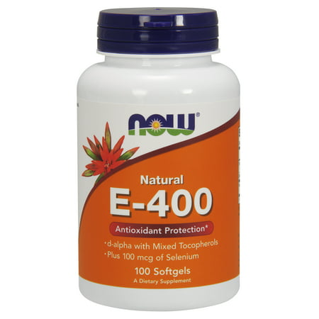 NOW Foods Natural E-400 Antioxidant Protection, 100 Ct