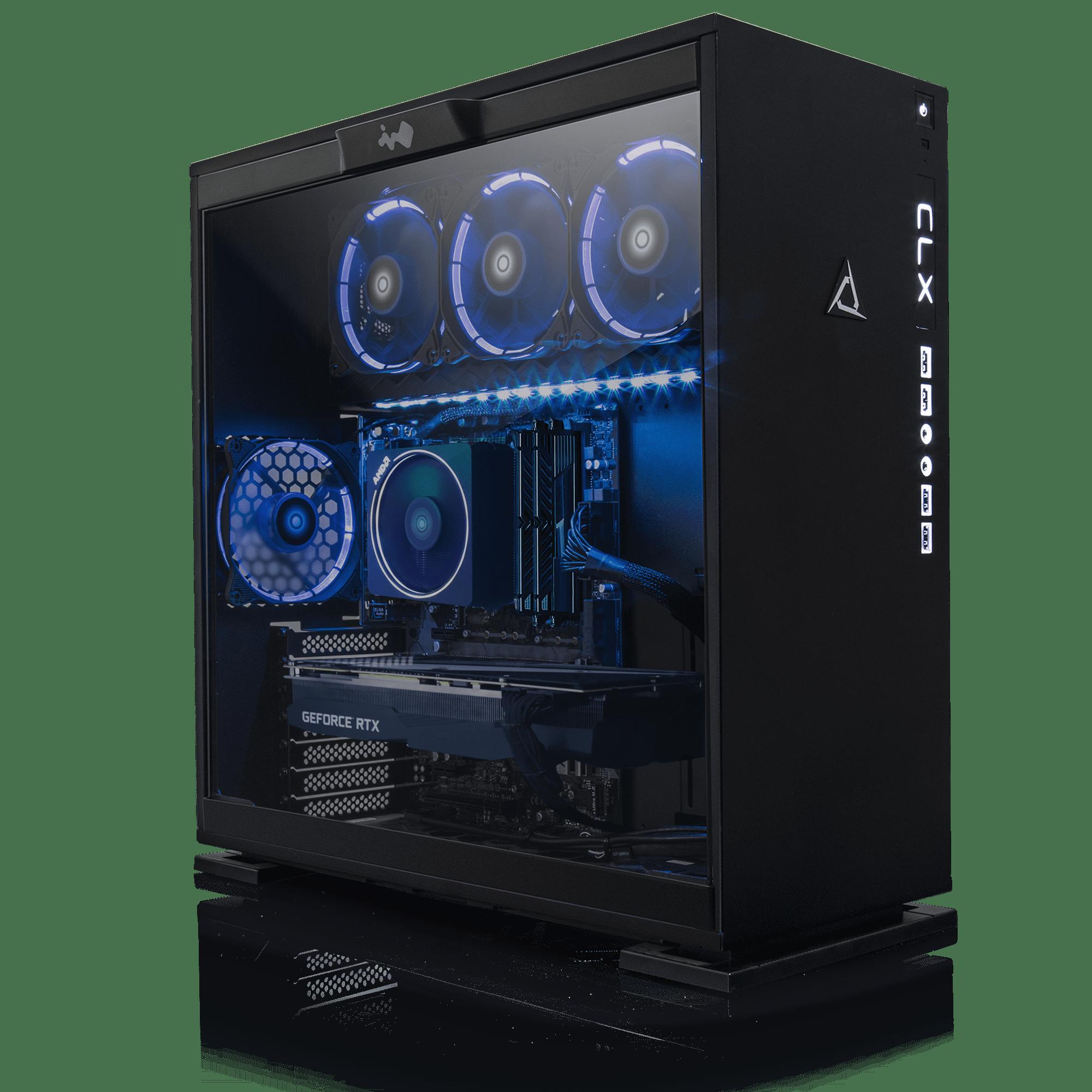CLX SET GAMING PC AMD Ryzen 7 2700X 3.70GHz (8 Cores) 16GB DDR4 3TB HDD & 480GB SSD NVIDIA GeForce RTX 2080Ti 11GB GDDR6 MS Windows 10 Home 64-Bit