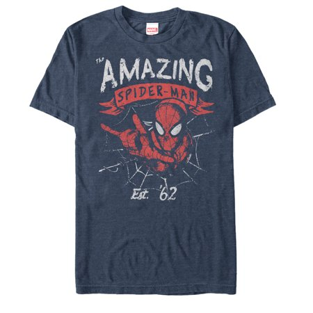 Marvel Men's Spider-Man Est 62 T-Shirt - Marvel Suits