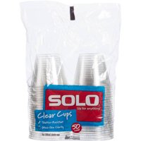 Clear Solo Cups, 9 Oz, 50 Count