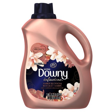 Downy Infusions Liquid Fabric Conditioner (Fabric Softener), Amber Blossom, 120 Loads 103 fl oz Downy Fabric Softener Ball