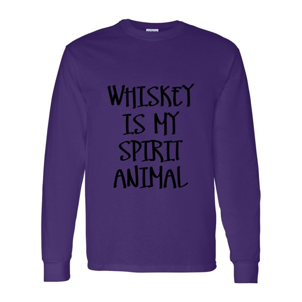 Whiskey is My Spirit Animal Mens Long Sleeve