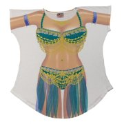 Belly Dancer Bikini Body Tee Shirt Cover-Up #26 (One Size Fits Most)