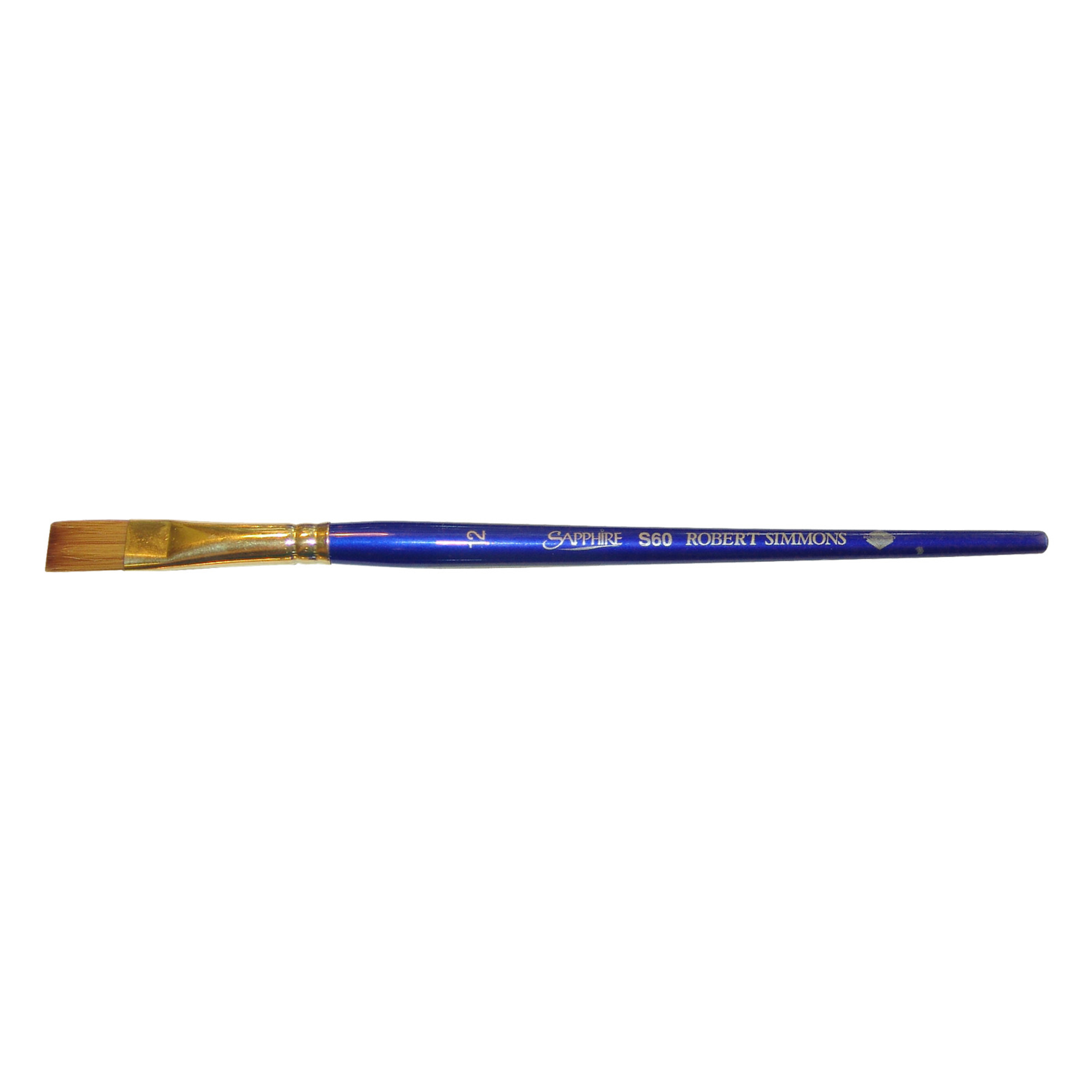 Robert Simmons Sapphire Series Synthetic Brushes Short Handle 1//2 in angle shader S57