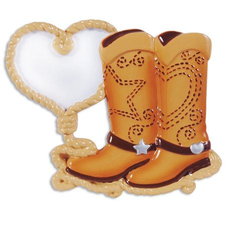 PERSONALIZED CHRISTMAS ORNAMENTS COUPLES- COWBOY BOOT COUPLE KIT](Cowboy Christmas Decorations)