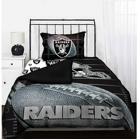 Nfl Raiders Bedding Set Walmart Com