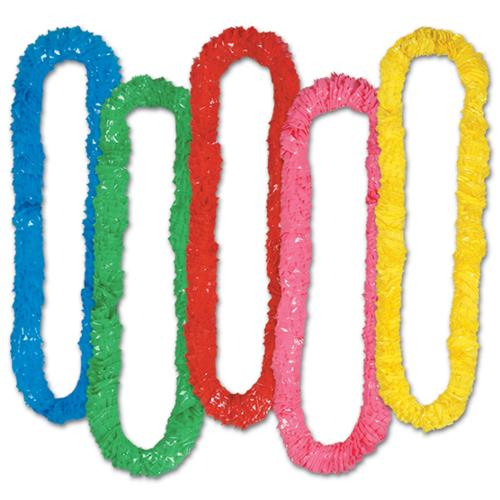 Club Pack of 144 Multi-Colored Soft-Twist Hawaiian Party Lei Necklaces 36""